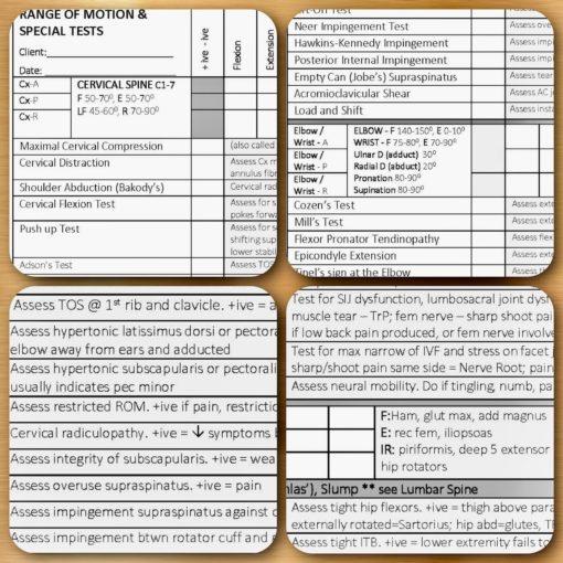 ROM form, orthopaedic testing